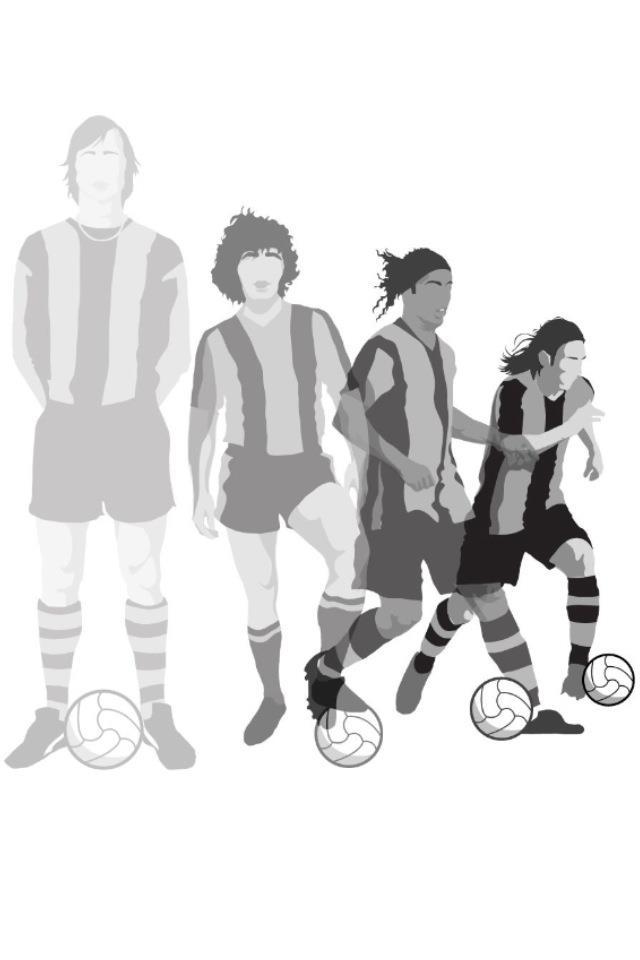 Cruyff maradona ronaldinho messi fc barcelona evolution